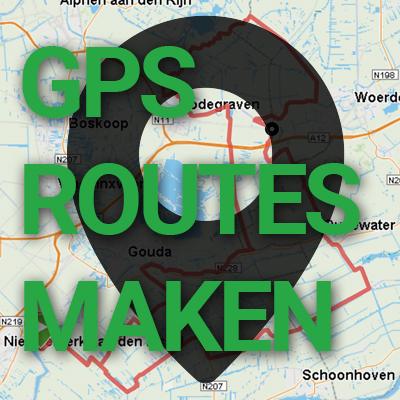 Hoe maak ik routes voor de gps